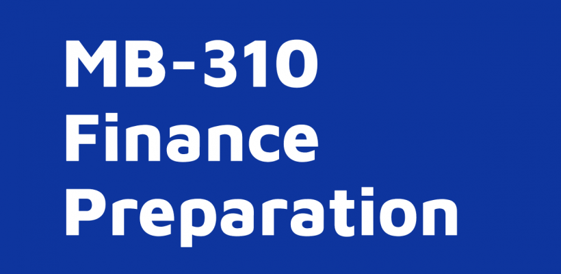 MB-310 Financials – course on-demand