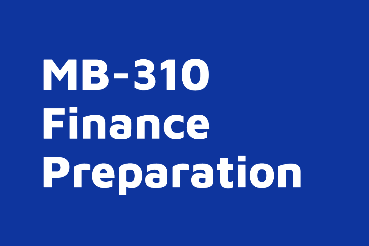 MB-310 Finance on-demand course