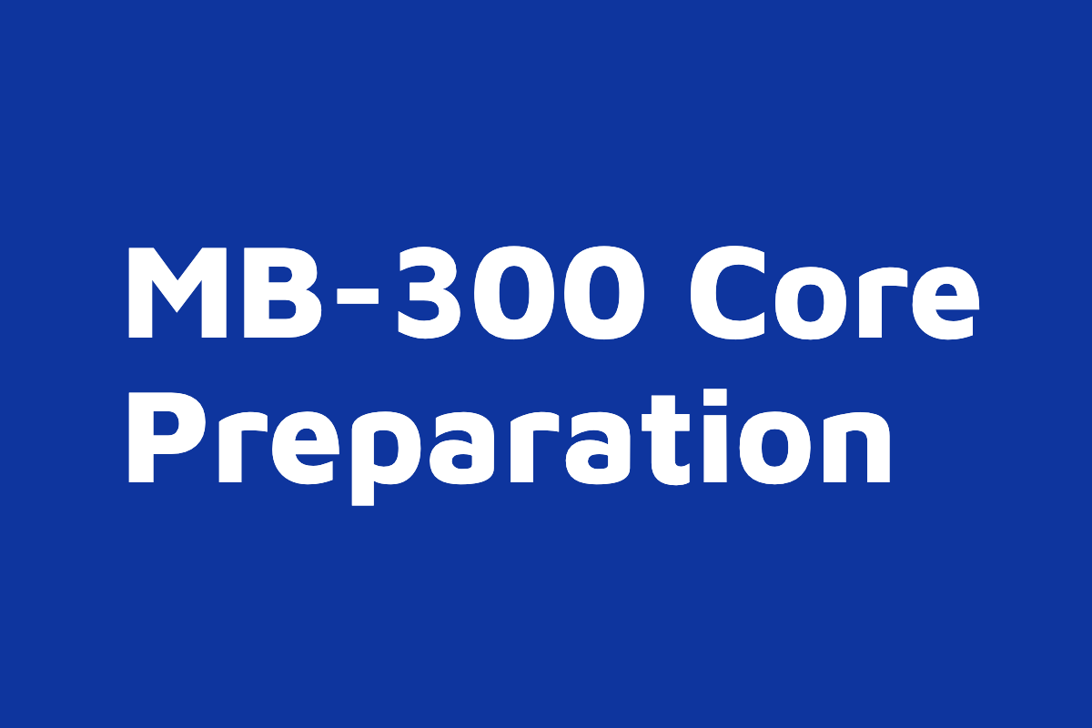 MB-300 Core on demand course thumb