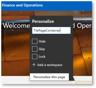 Create a new workspace in D365FO part 3