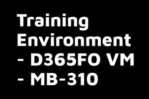 Training Environment VM for MB 310 Finance