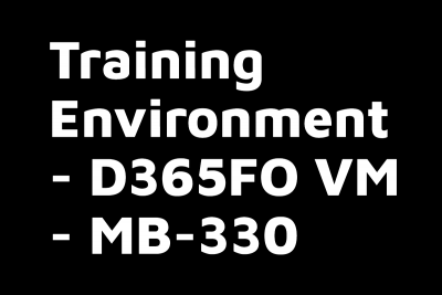 Training Environment VM for MB 330 Supply Chain Management