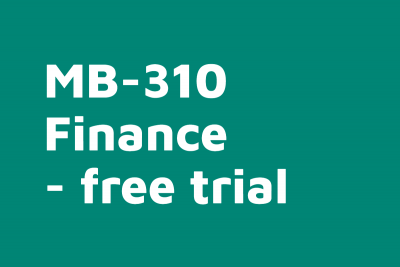 MB 310 D365FO Finance Free Trial Course