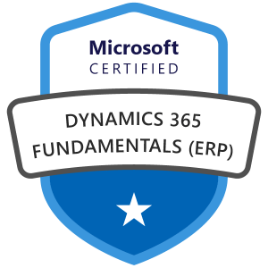Dynamics 365 fundamentals ERP certification MB-920 exam