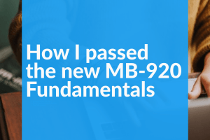 How I passed the new MB 920 Fundamentals wide