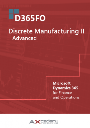 365FO Discrete Manufacturing Advanced training materials