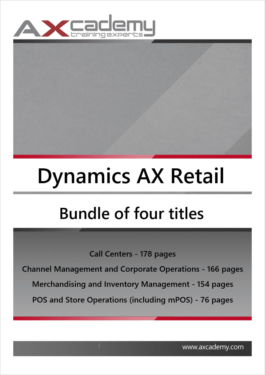 Dynamics Ax Retail Training Manuals Bundle Axcademy