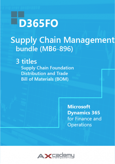 Bundle D365FO Supply Chain Management MB6 896 training materials