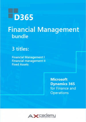 Bundle of 3 training manuals for Financial Management in Microsoft Dynamics 365 for Finance and Operations