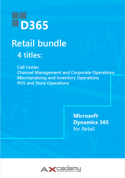 Bundle of 4 training manuals for Microsoft Dynamics 365 for Retail 1