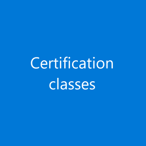 Certification classes