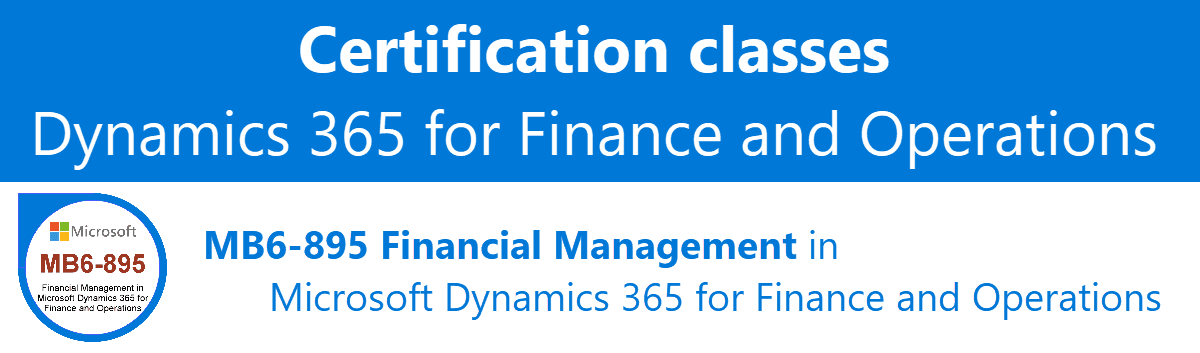Certification Class Mb6 895 Financial Management In Microsoft