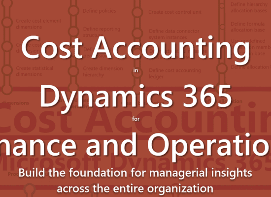 Cost Accounting in Microsoft Dynamics 365 for Finance and Operations
