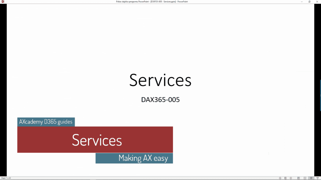 D365 Services in depth video