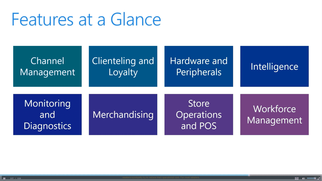 Features at at glance in Microsoft Dynamics 365 for Retail