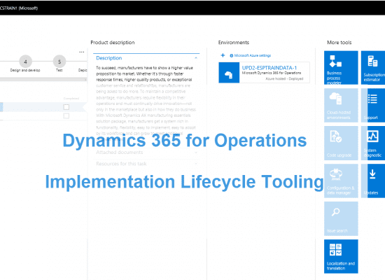 Understanding the Dynamics 365 for Finance and Operations Implementation Lifecycle