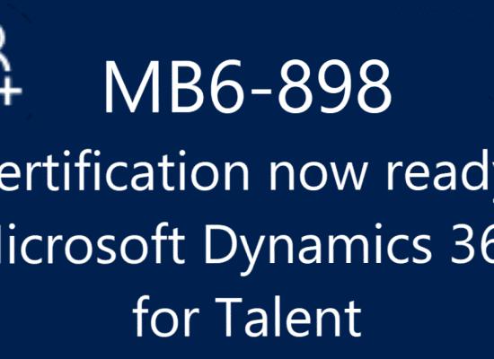 MB6-898 Exam Microsoft Dynamics 365 for Talent