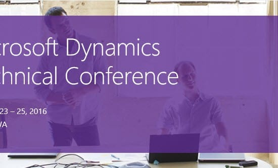 Microsoft Dynamics Technical Conference 2016