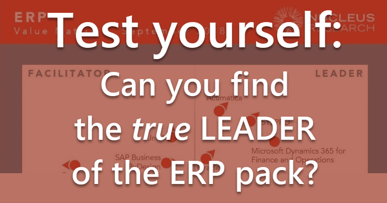 Nucleus Research ERP Value Matrix Quiz