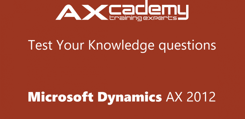 Test Your Knowledge: Product Management in Microsoft Dynamics AX 2012